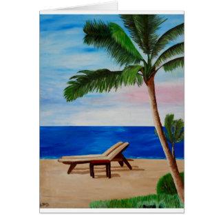 Caribbean Strand with Beach Chairs Card