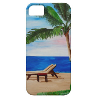Caribbean Strand with Beach Chairs iPhone 5 Covers