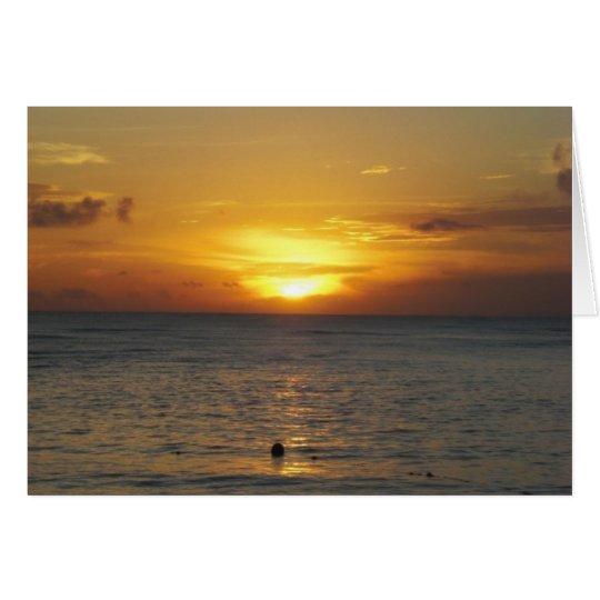 Caribbean Sunrise Card