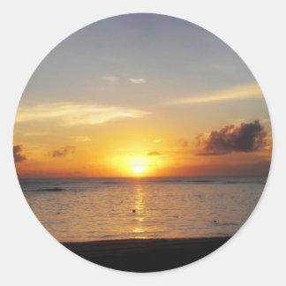 Caribbean Sunrise Classic Round Sticker