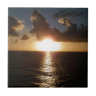 Caribbean Sunset Small Square Tile