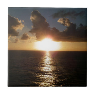 Caribbean Sunset Small Square Tile