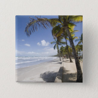 Caribbean - Trinidad - Manzanilla Beach on 15 Cm Square Badge