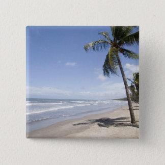 Caribbean - Trinidad - Manzanilla Beach on 2 15 Cm Square Badge