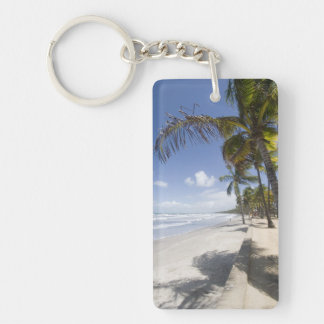 Caribbean - Trinidad - Manzanilla Beach on Double-Sided Rectangular Acrylic Key Ring