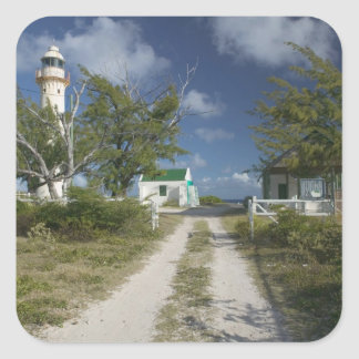 Caribbean, TURKS & CAICOS, Grand Turk Island, 3 Square Sticker