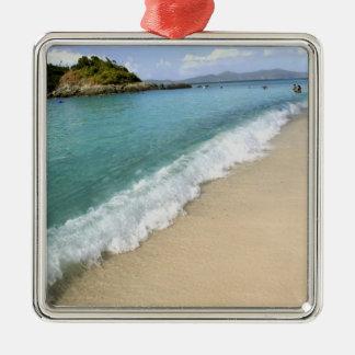 Caribbean, U.S. Virgin Islands, St. John, Silver-Colored Square Decoration