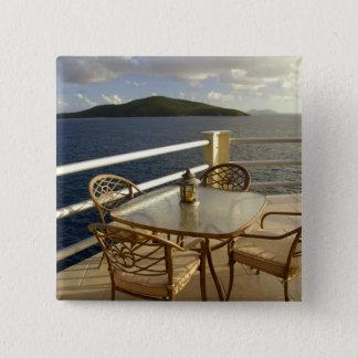 Caribbean, U.S. Virgin Islands, St. Thomas. View 15 Cm Square Badge