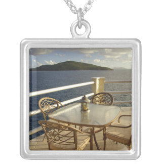 Caribbean, U.S. Virgin Islands, St. Thomas. View Silver Plated Necklace