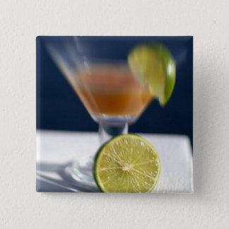 Caribbean, Virgin Islands. Tropical rum punch, 15 Cm Square Badge