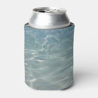 Caribbean Water Abstract Blue Nature Can Cooler