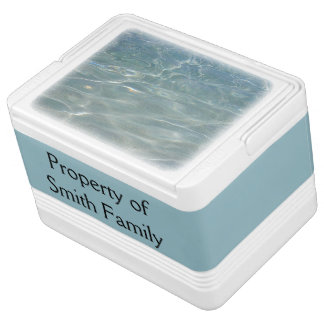 Caribbean Water Abstract Blue Nature Igloo Cool Box