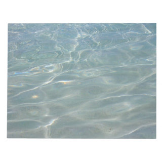 Caribbean Water Abstract Blue Nature Notepad