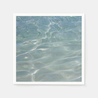 Caribbean Water Abstract Blue Nature Paper Napkins