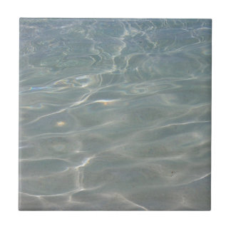 Caribbean Water Abstract Blue Nature Small Square Tile