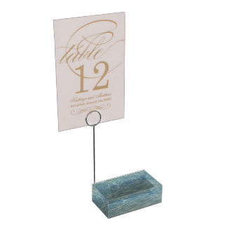 Caribbean Water Abstract Blue Nature Table Number Holder
