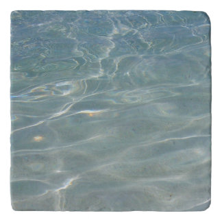 Caribbean Water Abstract Blue Nature Trivet