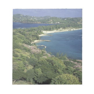 Caribbean, West Indies, St. Lucia. View of Notepad
