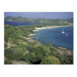 Caribbean, West Indies, St. Lucia. View of Post Card
