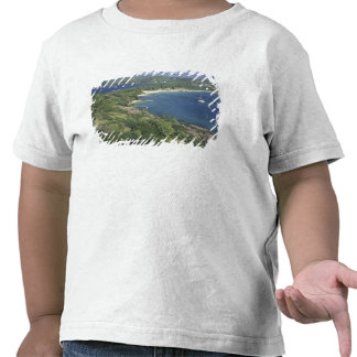 Caribbean, West Indies, St. Lucia. View of Tshirts