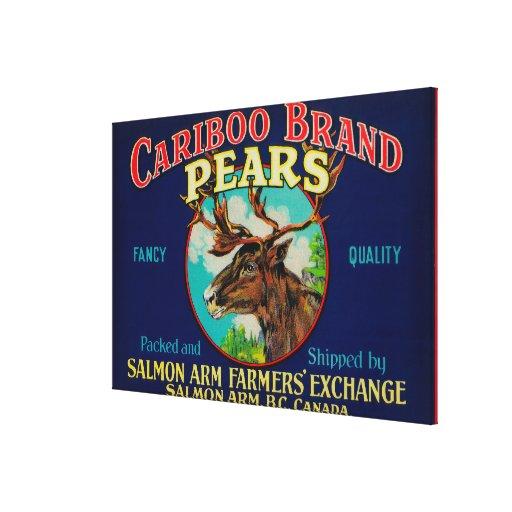 Cariboo Pear LabelCanada Gallery Wrap Canvas