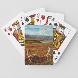 Caribou Antlers On The Alaskan Tundra Poker Deck