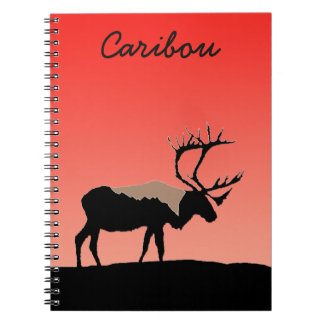 Caribou at Sunset Notebooks
