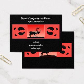 Caribou at Sunset  - Original Wildlife Art Business Card