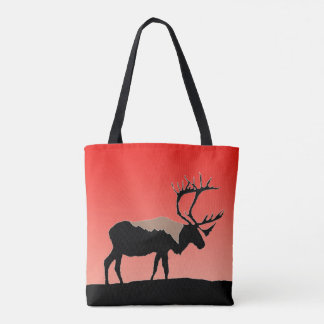 Caribou at Sunset  - Original Wildlife Art Tote Bag