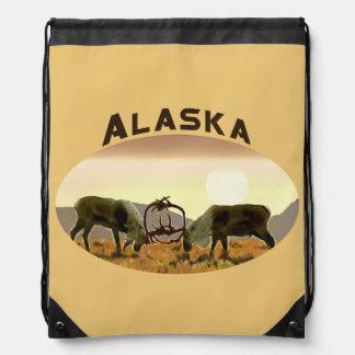 Caribou Duel - Alaska Drawstring Bag