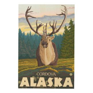 Caribou in the Wild - Cordova, Alaska Wood Print