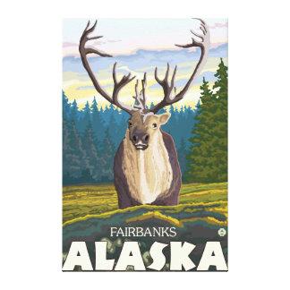 Caribou in the Wild - Fairbanks, Alaska Canvas Print