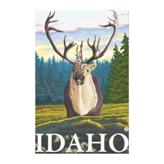 Caribou in the Wild - Idaho Canvas Print