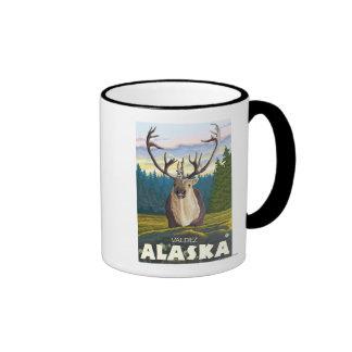 Caribou in the Wild - Valdez, Alaska Mugs