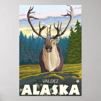 Caribou in the Wild - Valdez, Alaska Posters
