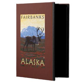 Caribou Scene - Fairbanks, Alaska Cover For iPad Air