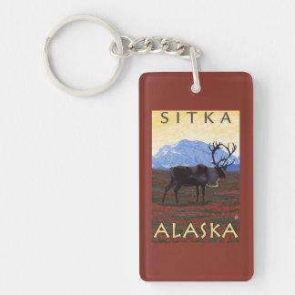 Caribou Scene - Sitka, Alaska Key Ring