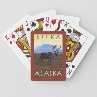 Caribou Scene - Sitka, Alaska Playing Cards