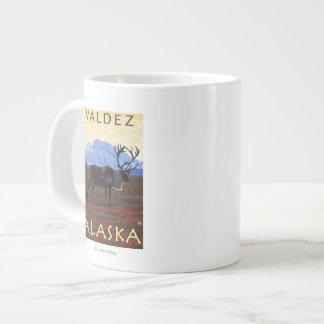 Caribou Scene - Valdez, Alaska Jumbo Mug