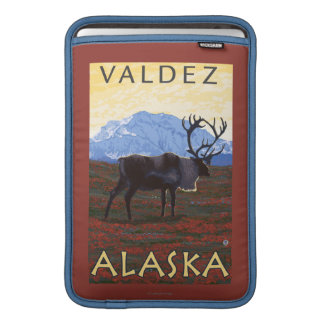 Caribou Scene - Valdez, Alaska MacBook Sleeves