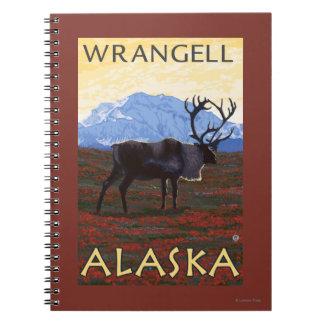 Caribou Scene - Wrangell, Alaska Spiral Notebook
