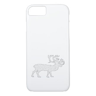 Caribou Winter Art iPhone 7 Case