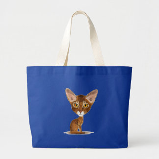 Caricature Abyssinian Canvas Bags