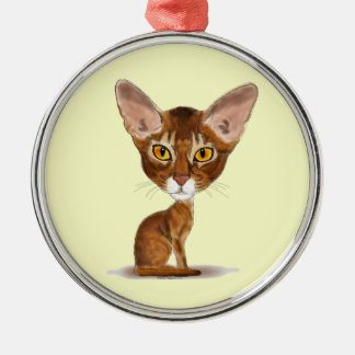 Caricature Abyssinian Christmas Ornament