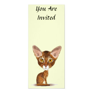 "Caricature Abyssinian 4"" X 9.25"" Invitation Card"