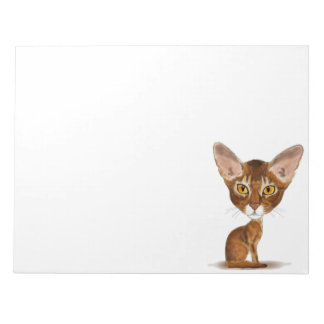 Caricature Abyssinian Notepad