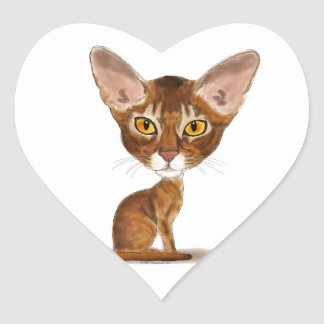 Caricature Abyssinian Stickers