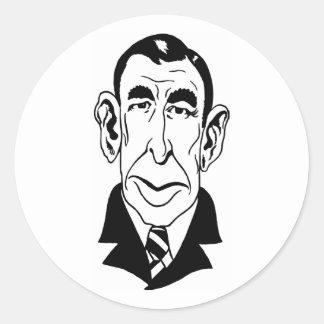 Caricature Booth Tarkington Round Sticker