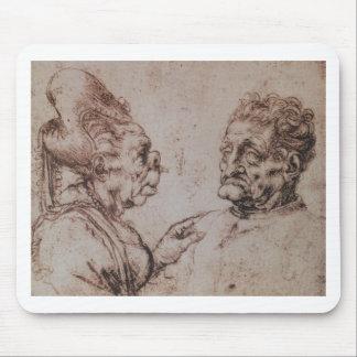 Caricature by Leonardo da Vinci Mouse Pad