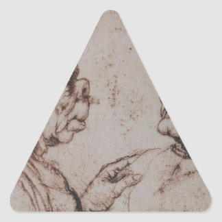 Caricature by Leonardo da Vinci Triangle Sticker